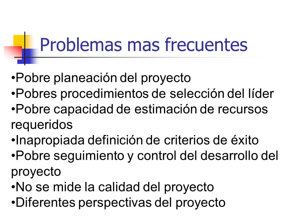 Problemas mas frecuentes