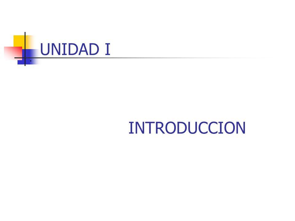 . UNIDAD I INTRODUCCION