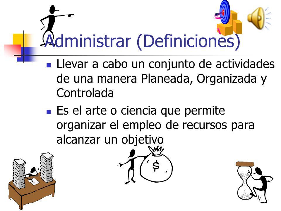 Administrar (Definiciones)