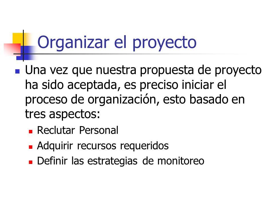 Organizar el proyecto