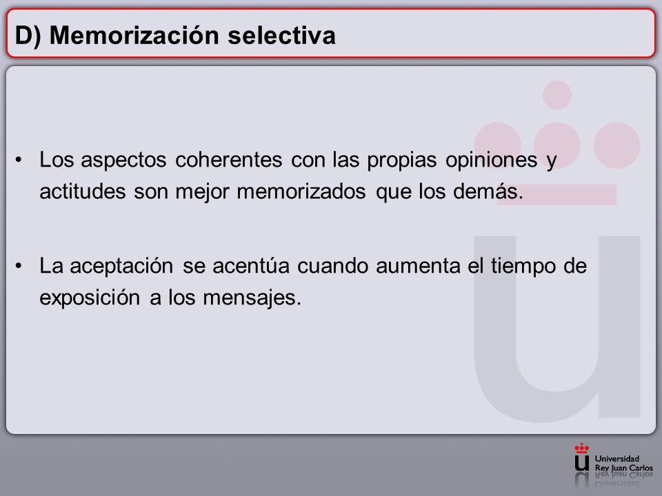 D) Memorización selectiva