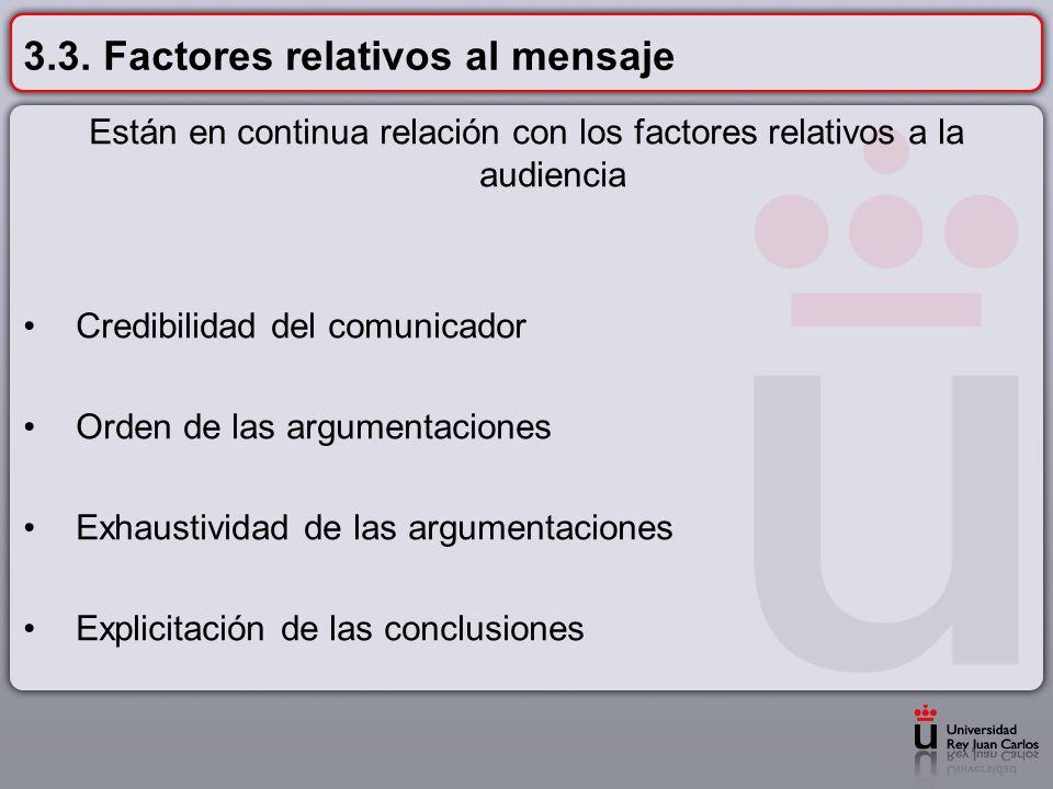 3.3. Factores relativos al mensaje