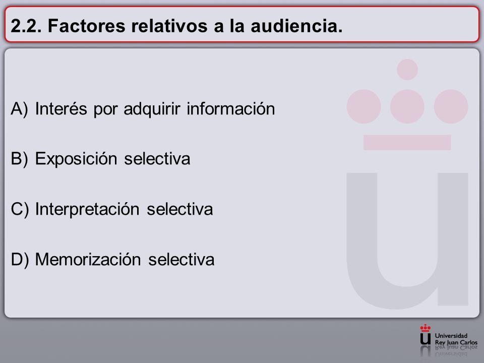 2.2. Factores relativos a la audiencia.