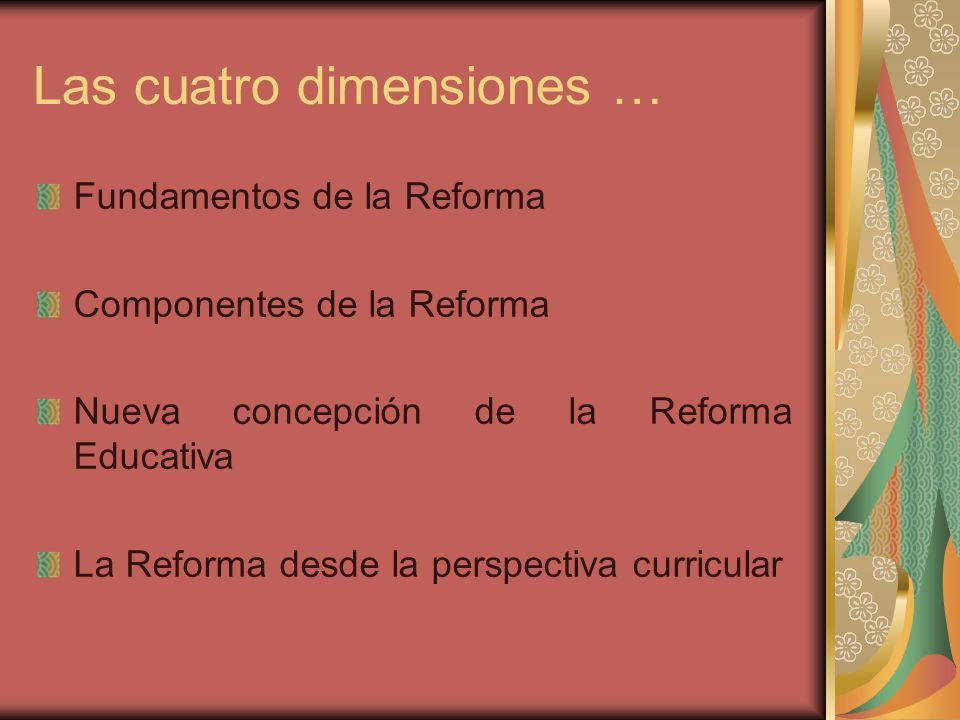 Las cuatro dimensiones …