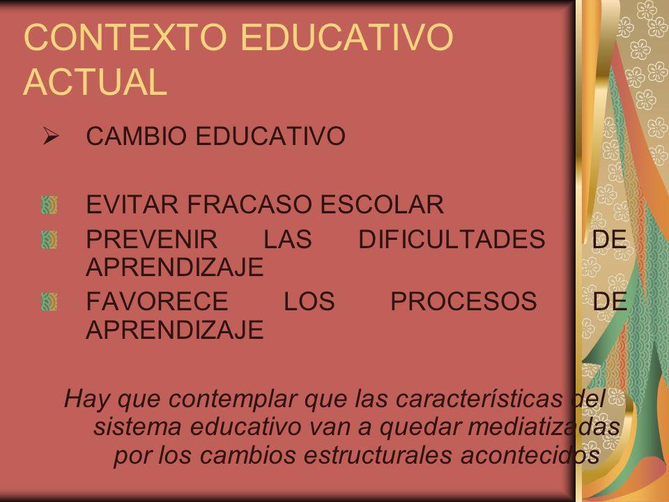 CONTEXTO EDUCATIVO ACTUAL