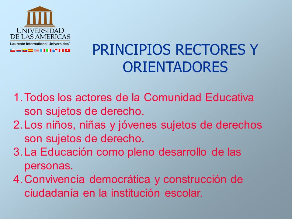 PRINCIPIOS RECTORES Y ORIENTADORES
