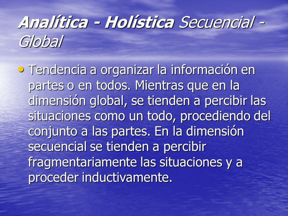 Analítica - Holística Secuencial - Global