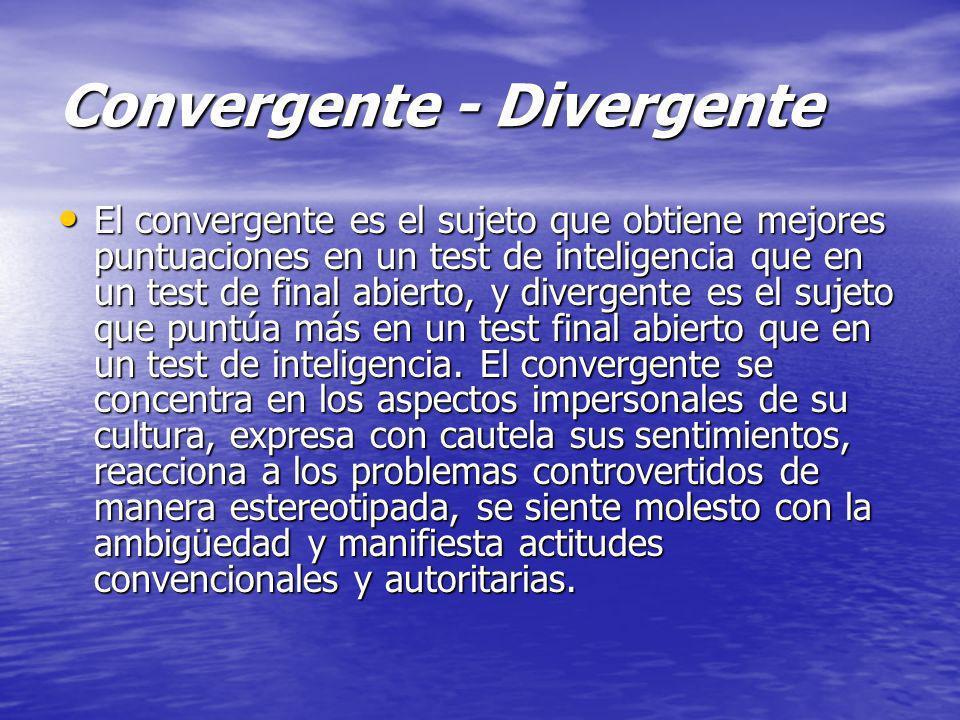 Convergente - Divergente
