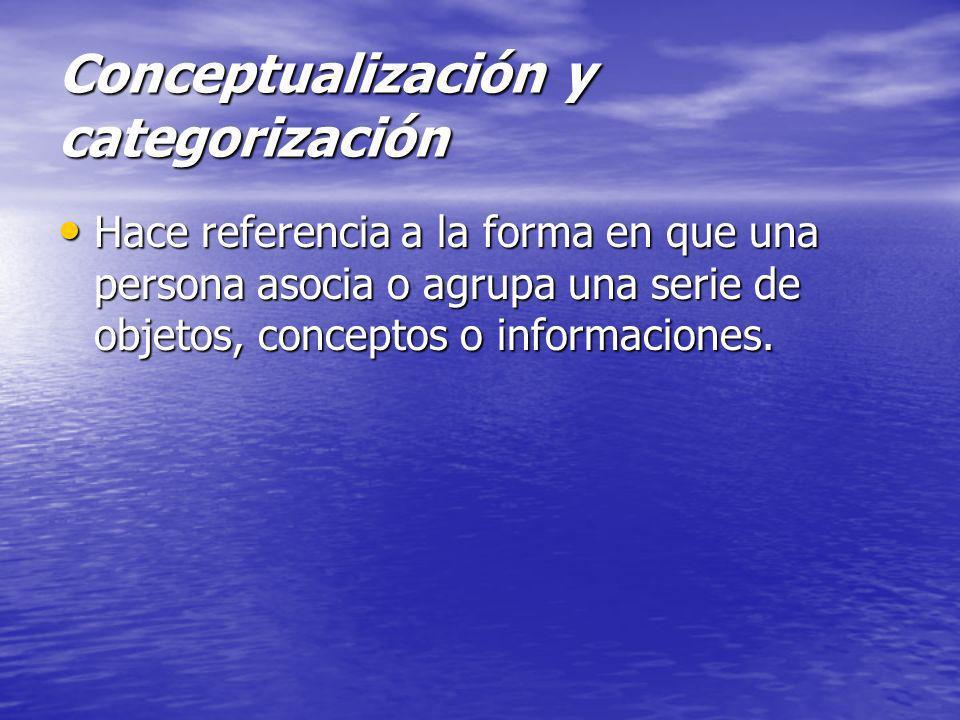 Conceptualización y categorización