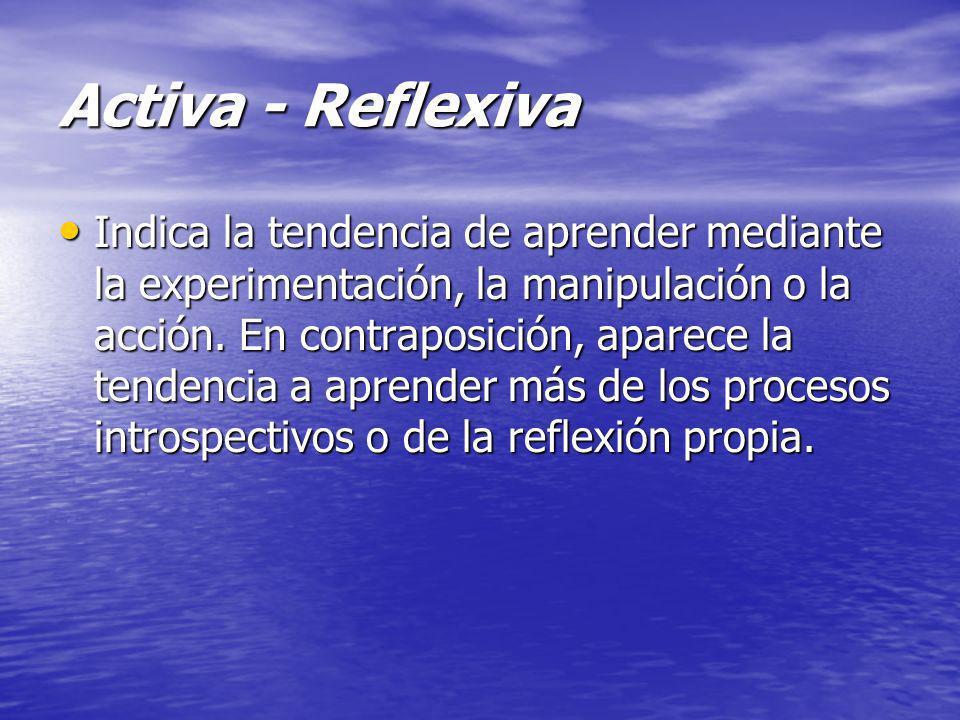 Activa - Reflexiva