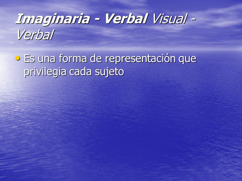 Imaginaria - Verbal Visual - Verbal