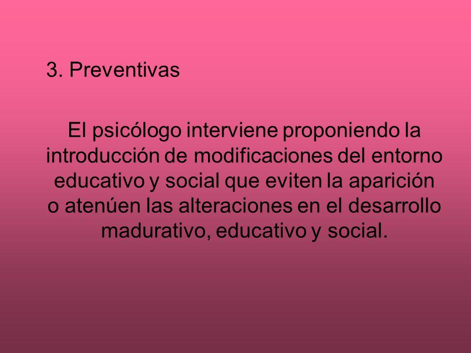 3. Preventivas