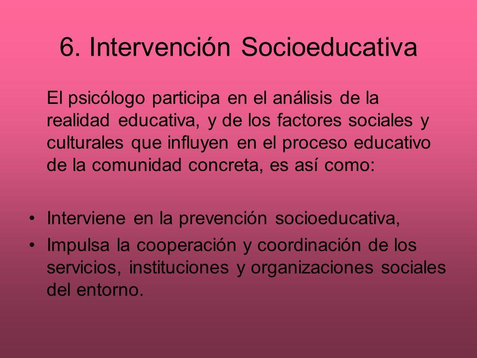 6. Intervención Socioeducativa