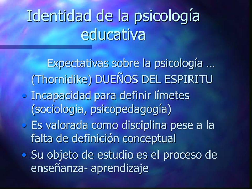 Identidad de la psicología educativa