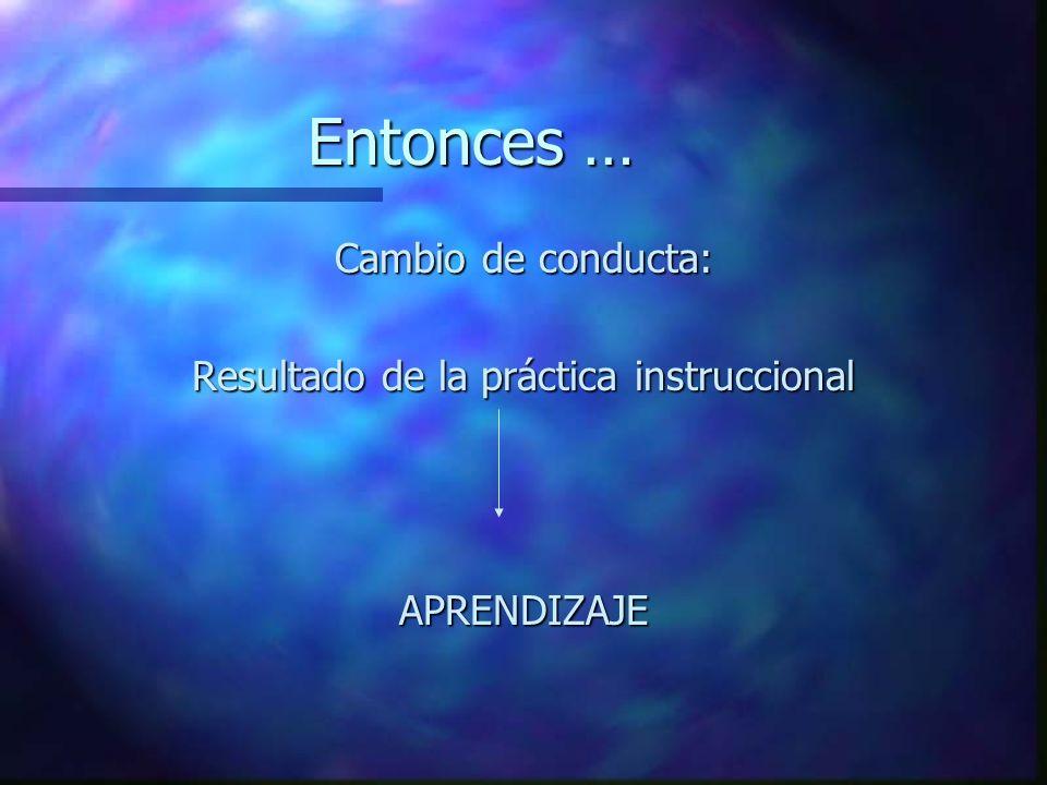 Resultado de la práctica instruccional