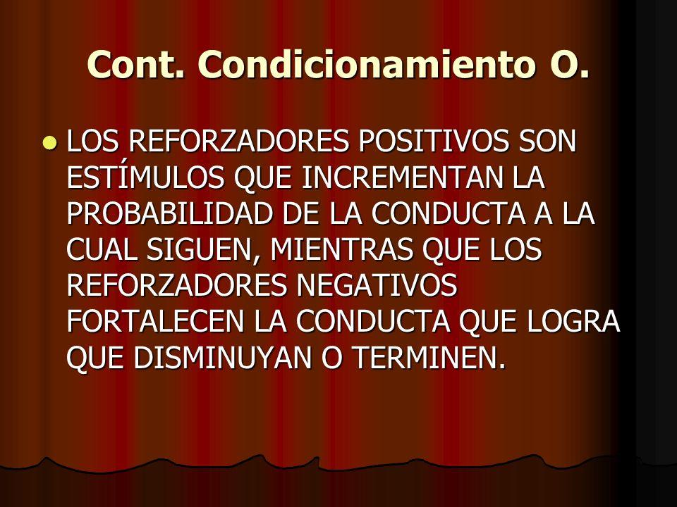 Cont. Condicionamiento O.