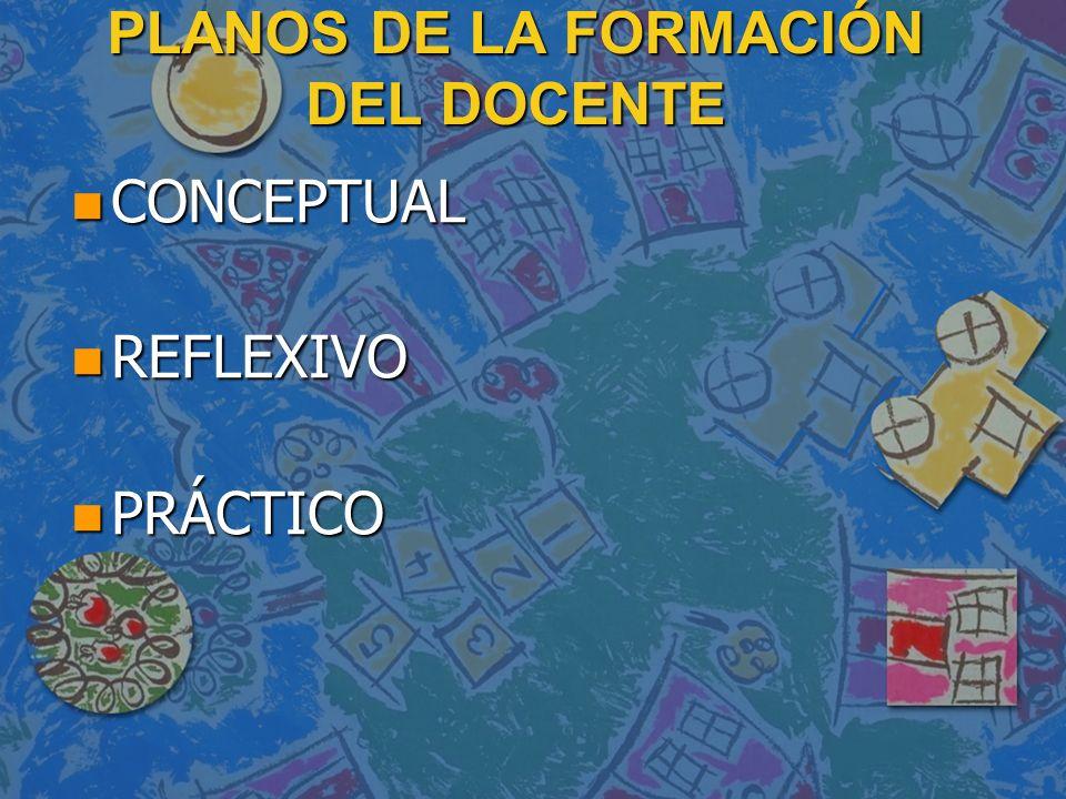 PLANOS DE LA FORMACIÓN DEL DOCENTE