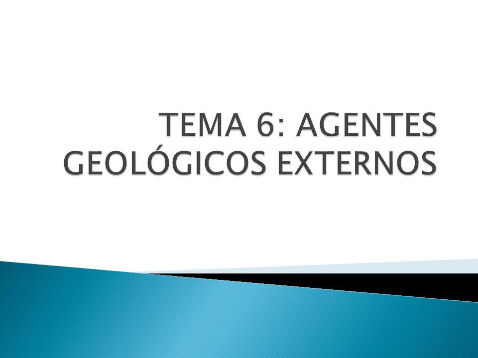 TEMA 6: AGENTES GEOLÓGICOS EXTERNOS