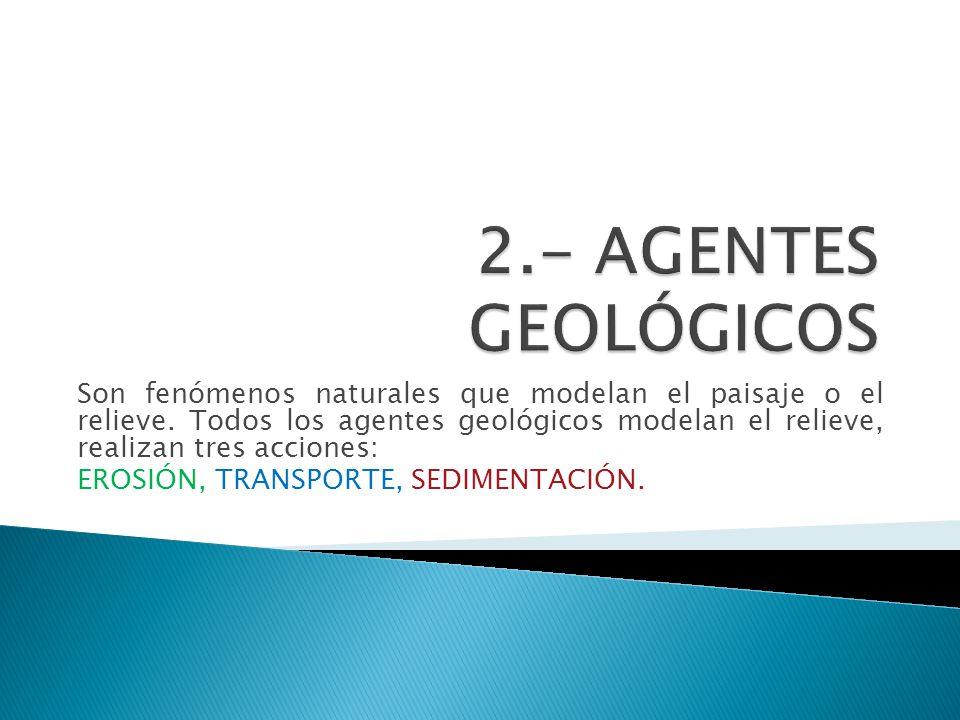 2.- AGENTES GEOLÓGICOS