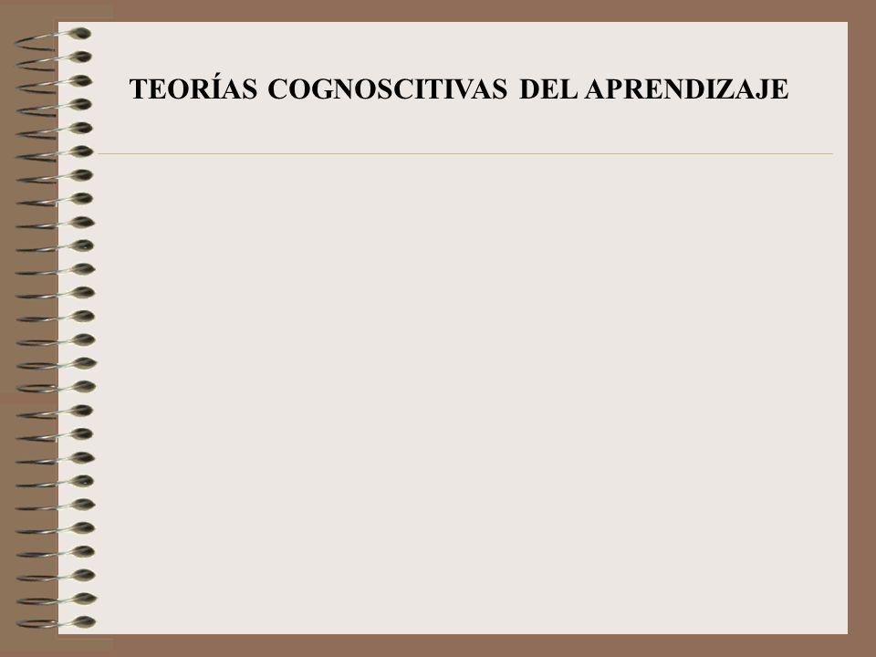 TEORÍAS COGNOSCITIVAS DEL APRENDIZAJE