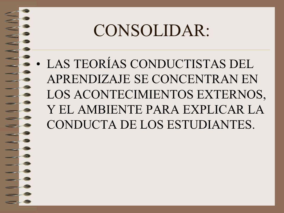 CONSOLIDAR: