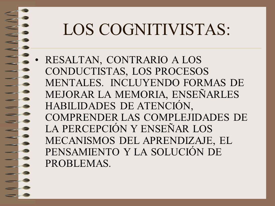 LOS COGNITIVISTAS: