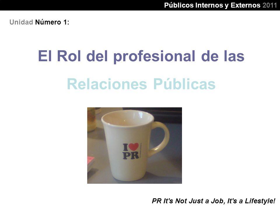 El Rol del profesional de las Relaciones Públicas