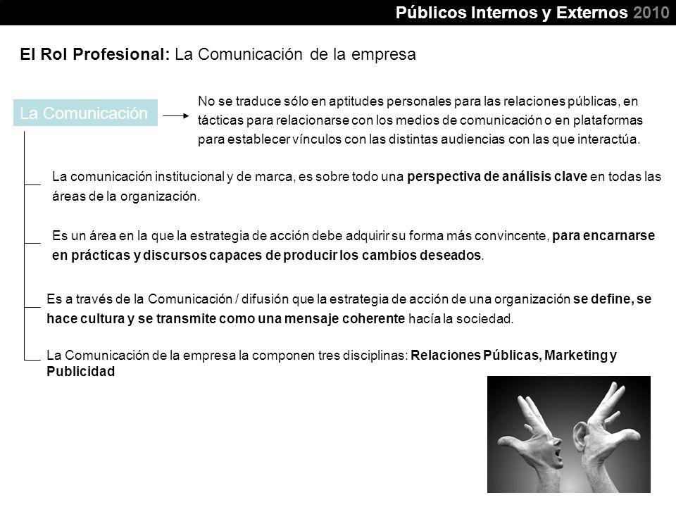 Públicos Internos y Externos 2010