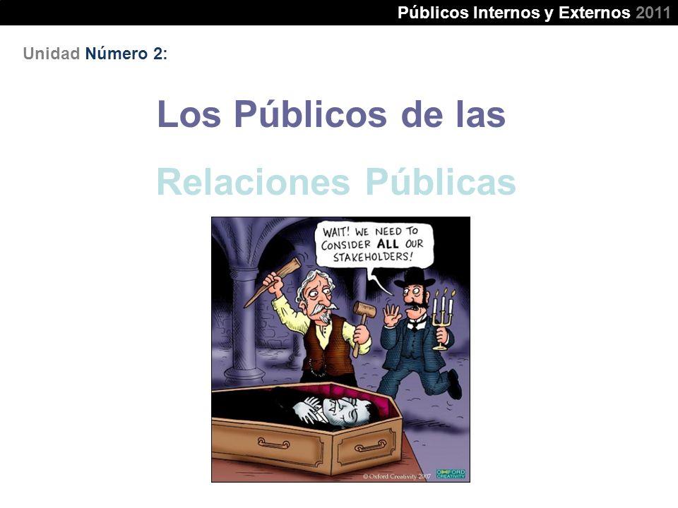 Los Públicos de las Relaciones Públicas