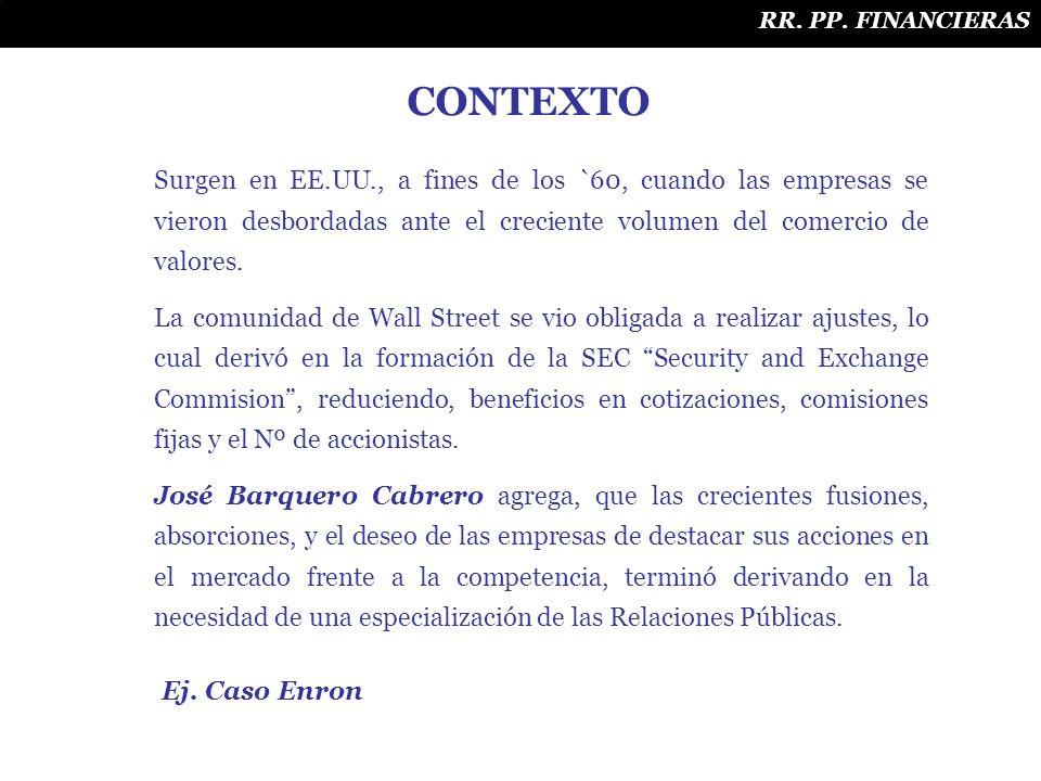 RR. PP. FINANCIERAS CONTEXTO.