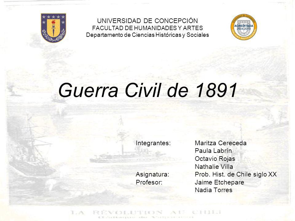 UNIVERSIDAD DE CONCEPCIÓN FACULTAD DE HUMANIDADES Y ARTES Departamento de Ciencias Históricas y Sociales