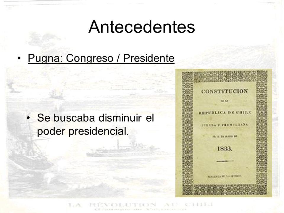 Antecedentes Pugna: Congreso / Presidente