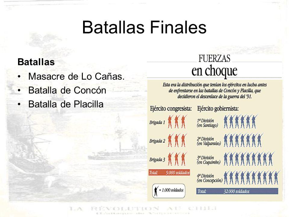 Batallas Finales Batallas Masacre de Lo Cañas. Batalla de Concón