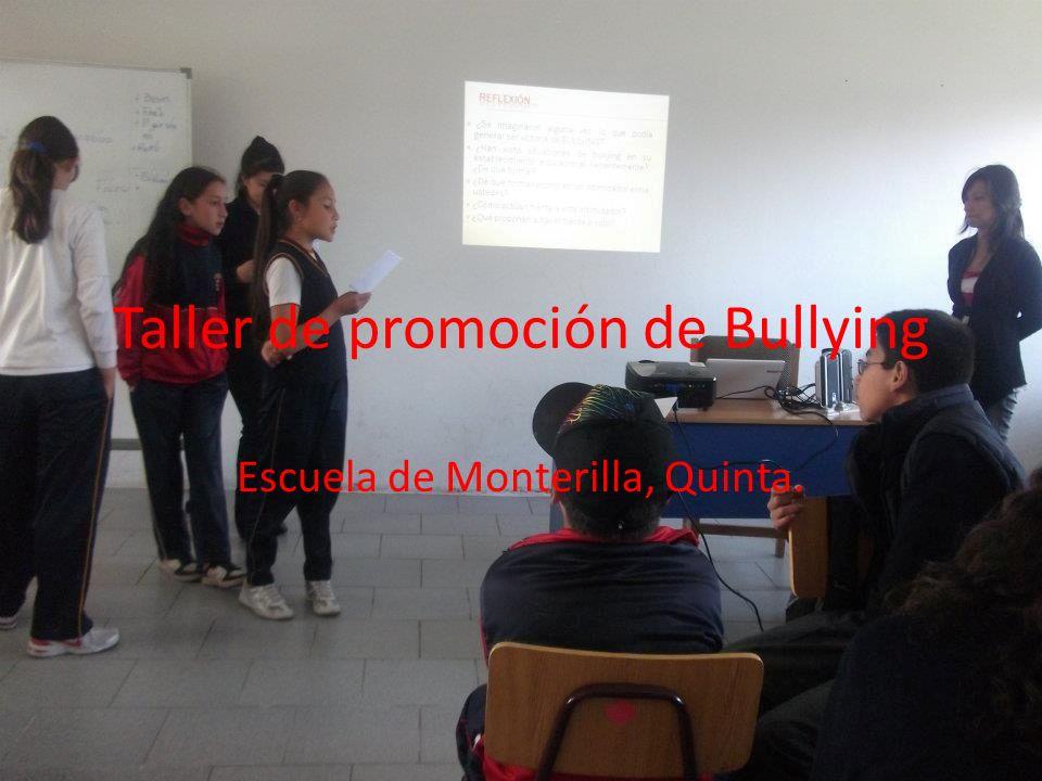 Taller de promoción de Bullying