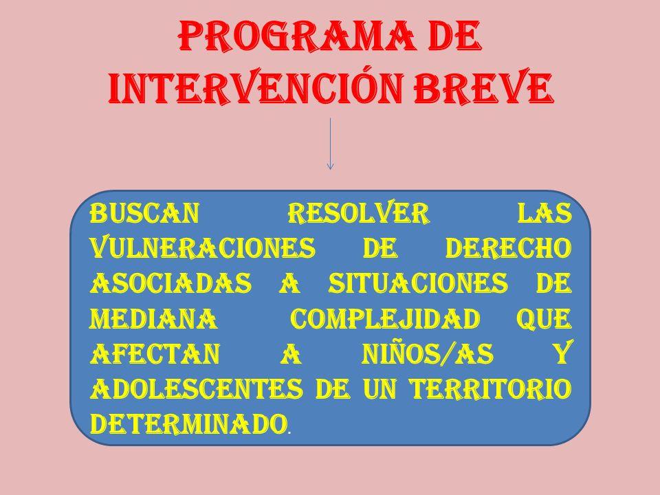 PROGRAMA DE INTERVENCIÓN BREVE