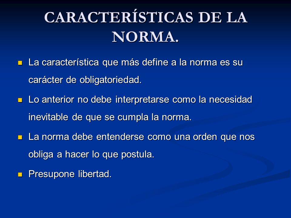CARACTERÍSTICAS DE LA NORMA.