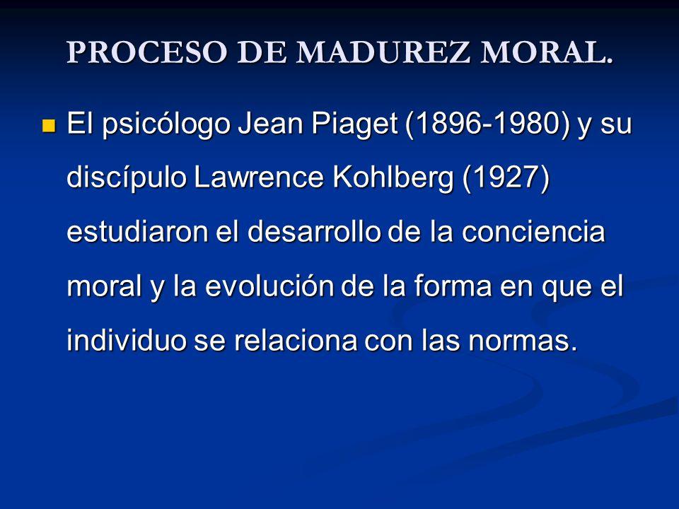 PROCESO DE MADUREZ MORAL.