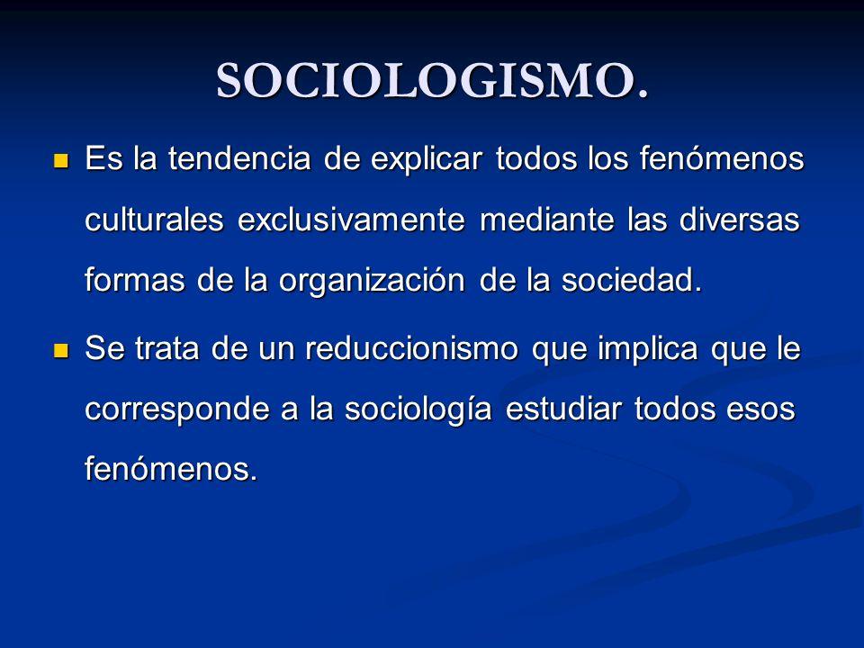 SOCIOLOGISMO.