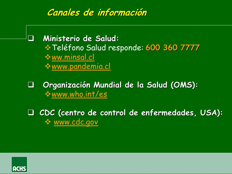 Canales de información