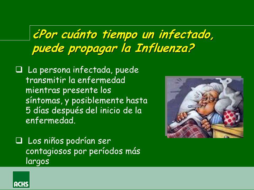¿Por cuánto tiempo un infectado, puede propagar la Influenza