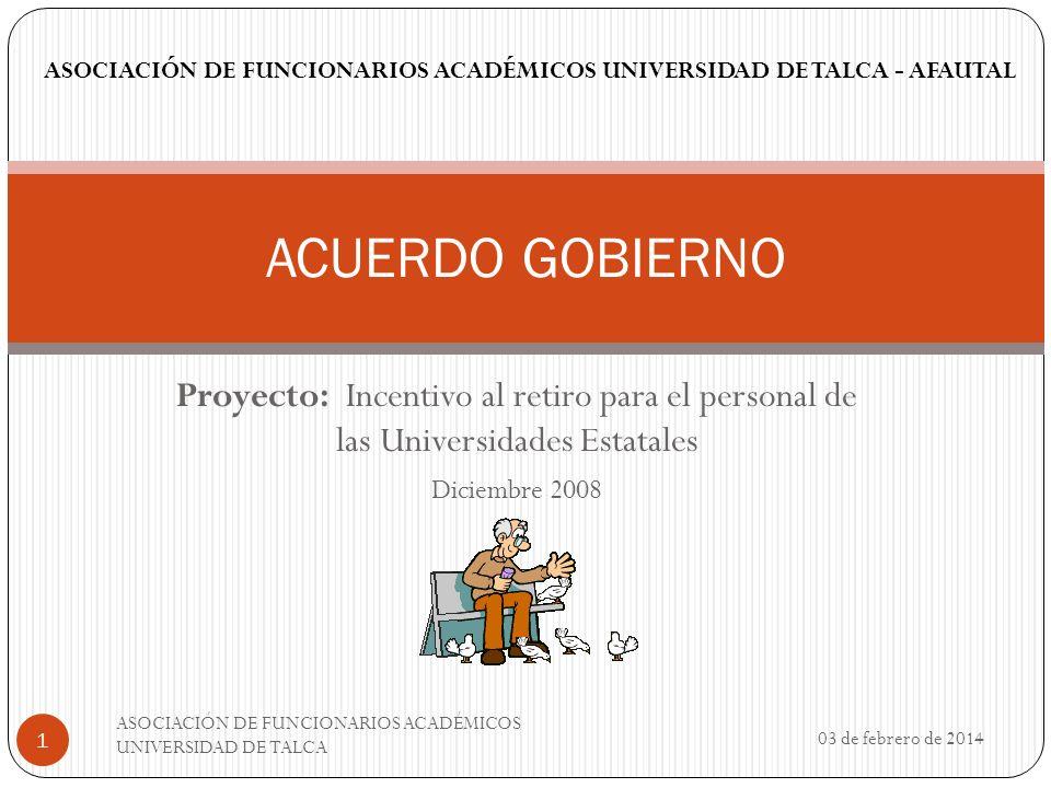 ASOCIACIÓN DE FUNCIONARIOS ACADÉMICOS UNIVERSIDAD DE TALCA - AFAUTAL