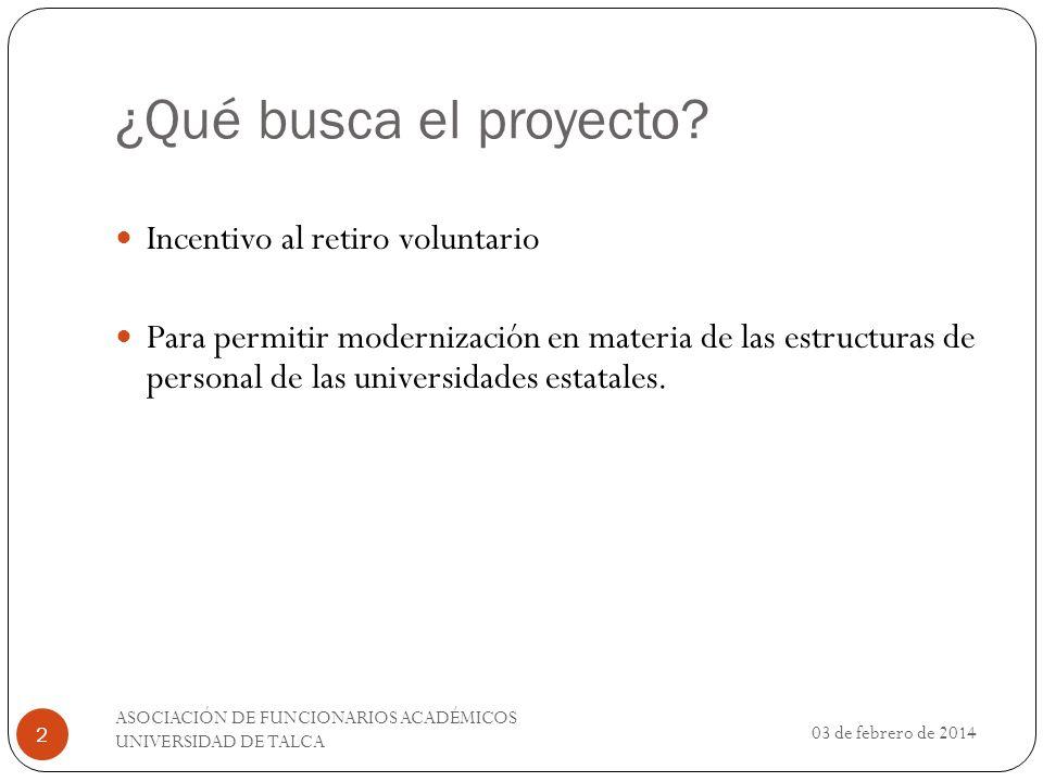 ¿Qué busca el proyecto Incentivo al retiro voluntario