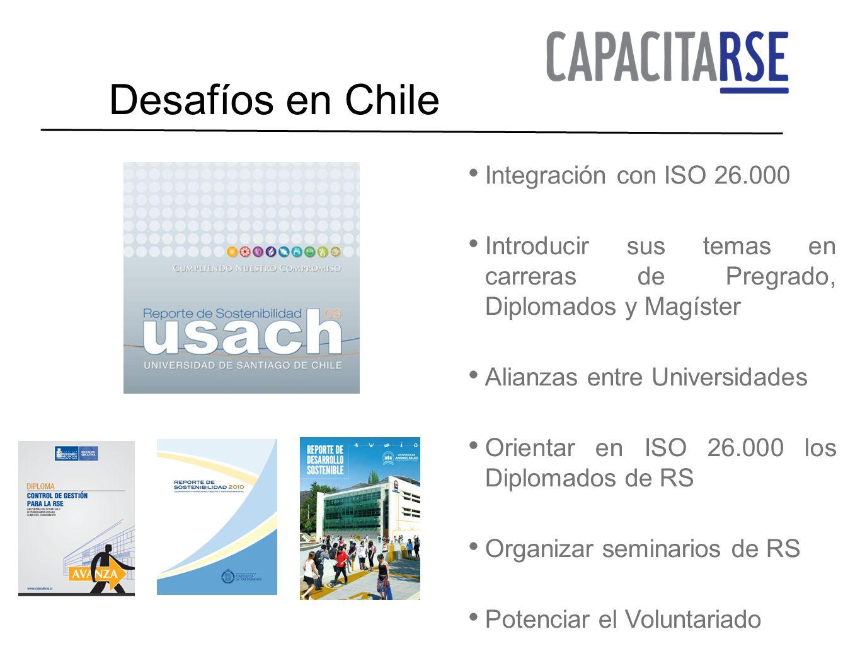 Desafíos en Chile Integración con ISO 26.000