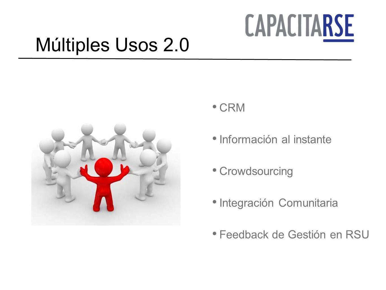 Múltiples Usos 2.0 CRM Información al instante Crowdsourcing