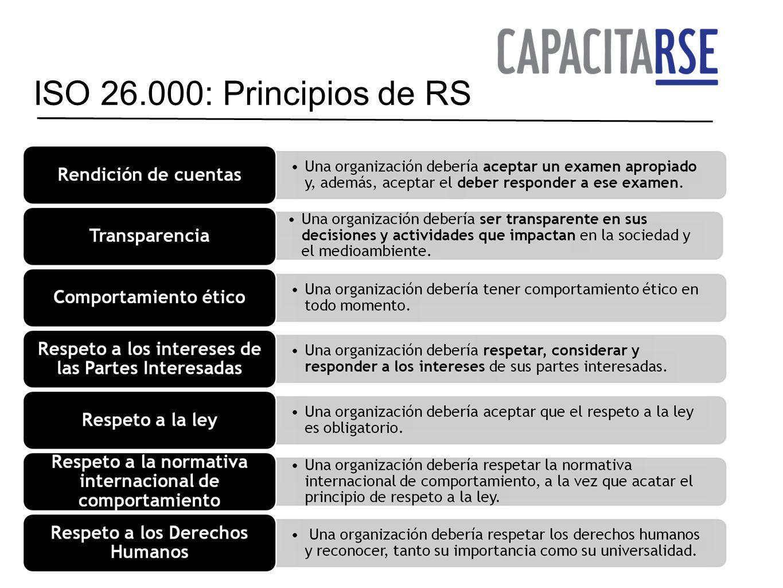 ISO 26.000: Principios de RS