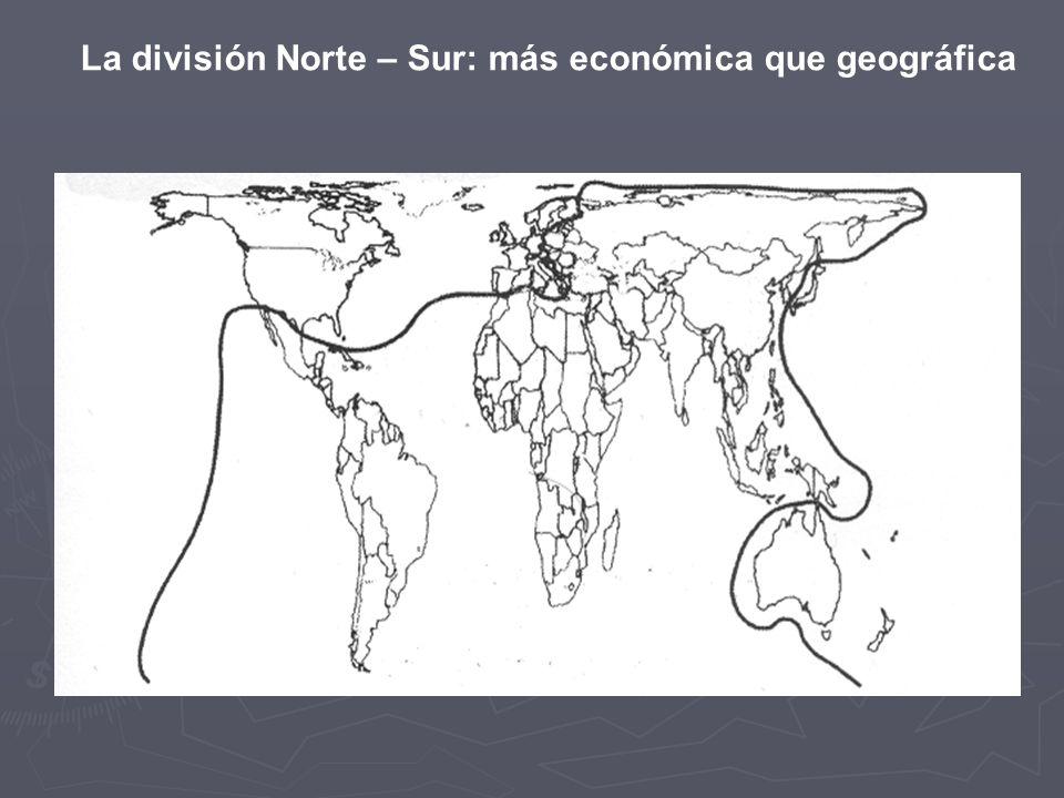 La división Norte – Sur: más económica que geográfica