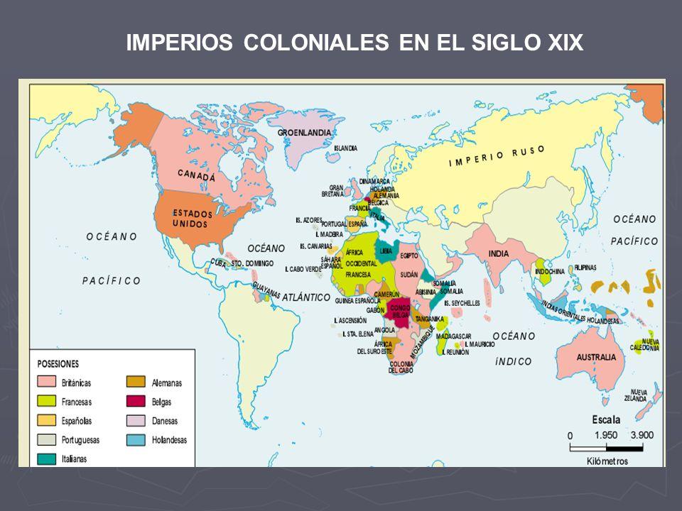 IMPERIOS COLONIALES EN EL SIGLO XIX
