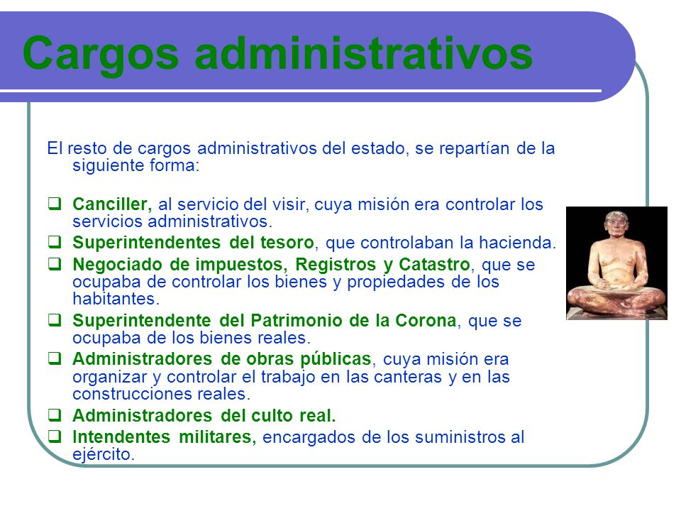 Cargos administrativos