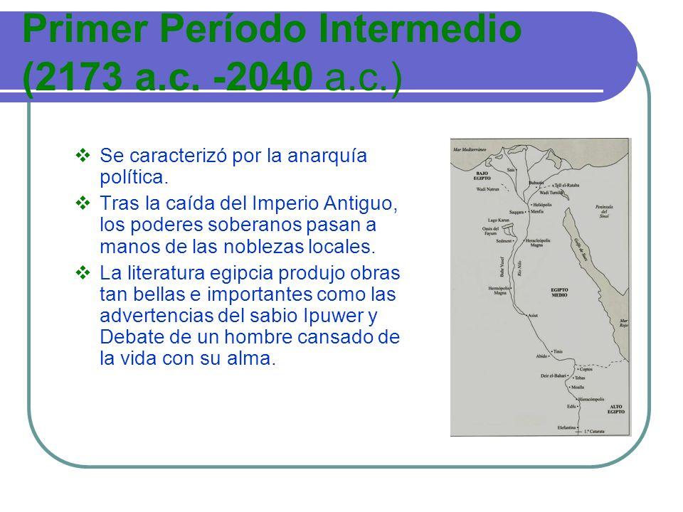 Primer Período Intermedio (2173 a.c. -2040 a.c.)