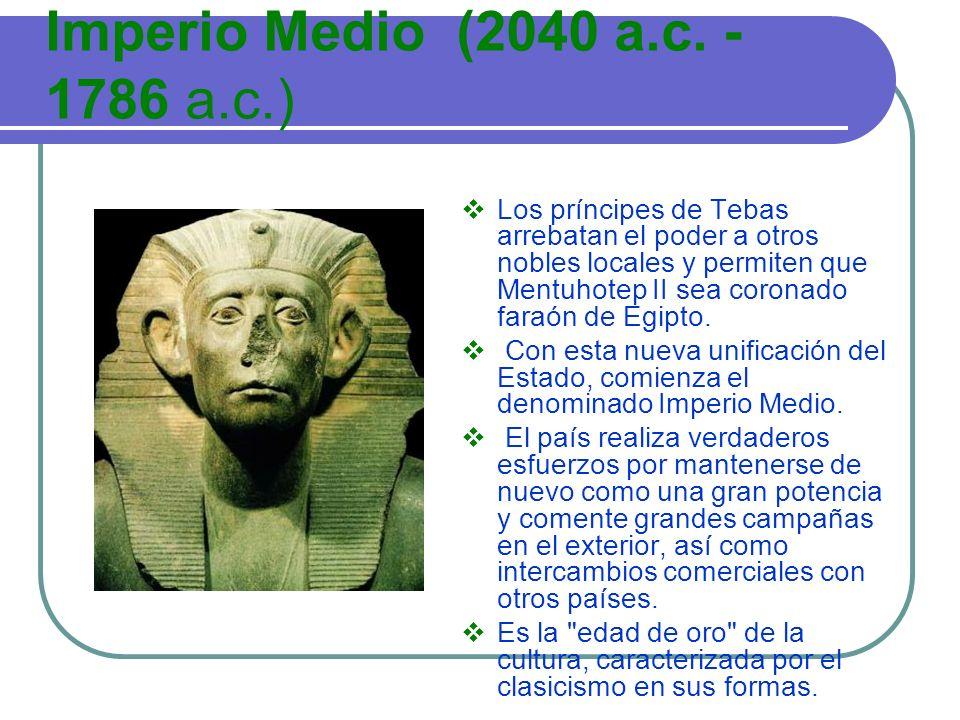 Imperio Medio (2040 a.c. -1786 a.c.)